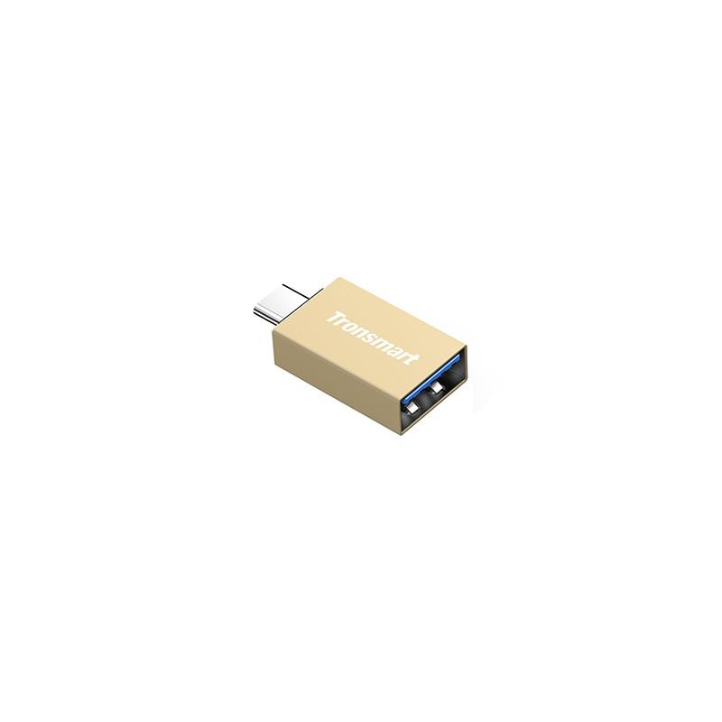Adapter USB-C - USB-A Tronsmart CTAF (kolor złoty)
